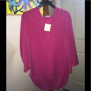 Bright PINK blouse!